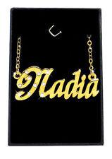 NADIA Collier Prénom 18K Plaqué or - Petite amie Meilleur ami Arabe Musulman