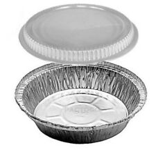 """Pie Plate 6"""" Tin W/ Lid Disposable Aluminum 25 Pack Mini Round Cake Bakery To Go"""