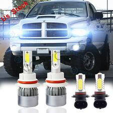 For 2003-2005 Dodge Ram 1500 2500 3500 4X 6000K Led Headlight + Fog Light Bulbs (Fits: Dodge)