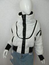 ICEBERG Ski Jacket White Puffer Black Cowl Neck Sweater Made in Italy Small 42