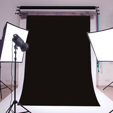Studio Backdrop 100% Polyester Photography Background Solid Black 5X7FT Washable