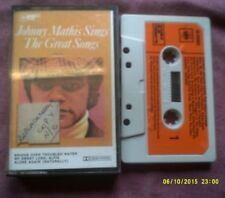 JOHNNY MATHIS SINGS THE GREAT SONGS CASSETTE
