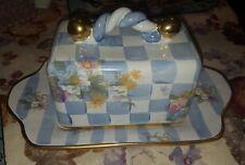 Mackenzie Childs Butter Dish Morning Glory 1983