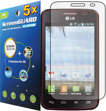 5x Clear LCD Screen Protector Guard Cover for LG Optimus Dynamic II 2 LG39C L39C