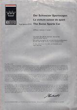 Monteverdi High Speed 375 L 1971 UK Market Multilingual Foldout Sales Brochure