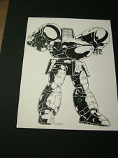 Robotech Sentinels: Kevin Long original art, matted - Mecha 4