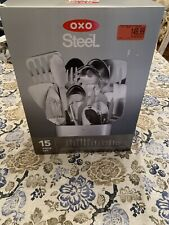 Oxo Good Grips Kitchen Essentials Stainless Steel Utensil Cook 15 Piece Tool Set