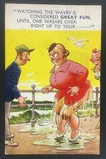 Vintage Bamforth Seaside Series Comic Postcard c.1953 Tempest No.926