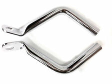 Chrome Saddlebag Guard Eliminator Support Brackets For Harley Touring FLHT 93-13