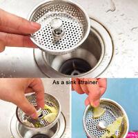 Küche Edelstahl Waschbecken Abwasser Sieb Abfluss-stecker Stopfen Korb Filt C1D8