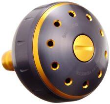 Shimano Yumeya aluminum round power handle knob black / gold L for 26293
