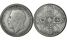 1 Florin 1922 United Kingdom 🇬🇧 Silver Coin // King George V 2nd issue # 817a