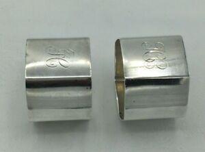 Hexagonal Napkin Rings Art Deco Solid Silver Ernest W Haywood Birmingham 1939