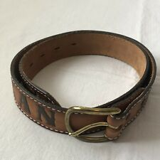 Tony Lama tooled leather belt JEAN