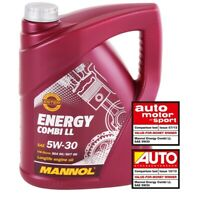 5L 5W-30 Motoröl Mannol Energy Combi LL API SN CF BMW LL-04 MB 229.51 C30 5W30