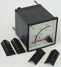 AEG A Analog-Messgerät 900A Einbauinstrument Amper Meter 750/5A 380V 90mm x90mm
