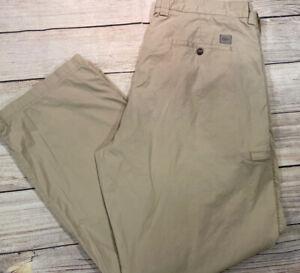 """Men Lacoste Khaki 100% Cotton Pants Sz 40 X 32"""" Inseam"""