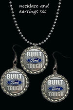 great gift must have mustang F150 etc Built Ford Tough earring and necklace set