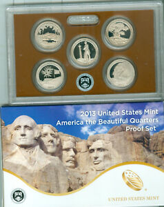 2013 U.S. America The Beautiful Quarters Proof set FREE S/H