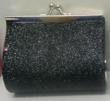 tiny purse for lipstick, coins, bling glittered black purse