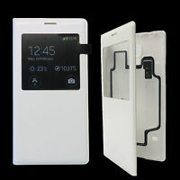 Original Samsung S-View Flip Cover EF-CG900 Galaxy S5,SM-G900F Weiß Etui Case