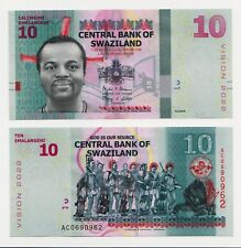 NEW: Swaziland 10-lilangeni Banknote  (2017)  Issue in UNC condition