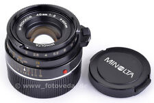 For Leica M 40mm 1:2 M-ROKKOR MINOLTA Lens made in Japan ! TOP condition A/B !!!