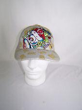 Rose Skull Sequins Gray Snapback Mesh Trucker Wool Acrylic Hat Cap