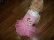 dog tutu dress,pink Princess,Small (**read details for size!)