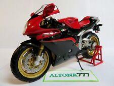MINICHAMPS 1/12 MV Agusta F4 1000 Tamburini Bike Moto Red w/ Grey Carbon *RARE*