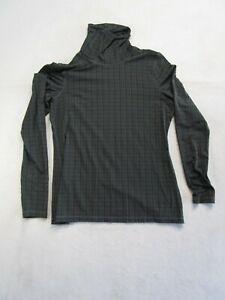 Rough Hewn Womens L Dark Long Sleeve Turtleneck Shirt Nice Casual Soft Fall