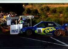 Tommi Makinen Subaru Impreza S7 WRC Catalunya Rally 2002 Signed Photograph
