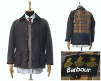 Mens BARBOUR Ashby Wax Waxed Jacket Coat Black Size L