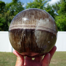 Huge Fluorite & Aragonite Crystal Sphere Ball Healing Stone