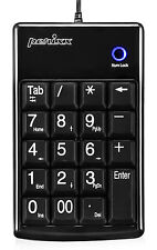 Perixx peripad-201 B, USB NUMPAD Teclado 19 TECLAS - PC portátil - Negro