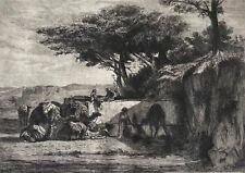 Orientaliste caravane Dromadaire MARILHAT 1811-1847 François FLAMENG 1856-1923