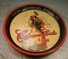 NEAT old 1930's Pie Tray Leinenkugel Beer Pride  Chippewa Falls WI Indian Maiden