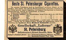 """""""laferme """"mejor St. Petersburger cigaretten histórica publicitarias de 1895"""
