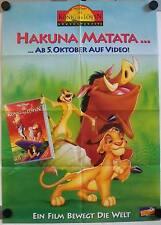 König der Löwen Filmposter A1 Lion King Disney Videoplakat Irons Broderick