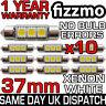 10x 3 SMD LED 37mm 239 272 CANBUS ERROR WHITE NUMBER PLATE LIGHT FESTOON BULB UK
