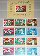 QATAR KATAR 1966 135-40 A-B 3er Block 7 103-03B Olympics 1968 Mexico Sport MNH