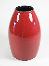 AMANO - Vintage Ceramic Vase - Rich Red Glaze - Germany - Late 20th Century