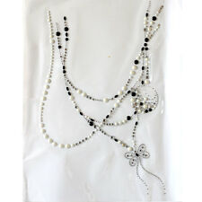 Korea and Rhinestone Transfer Hot fix Motif crystal Fashion Shiny pearl necklace