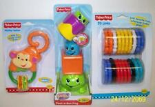 Fisher Price Monkey Teether, Peek a Boo Blocks & 20 Links Baby Toys NEW