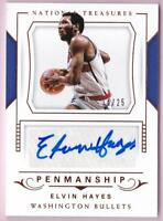 ELVIN HAYES 2017-18 NATIONAL TREASURES PENMANSHIP AUTO #14/25 AUTOGRAPH