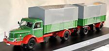 Krupp Titan mit 2-achs Anhänger 1950-55 grün green 1:43 Schuco