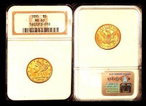 1895 $5 NGC MS60 - Half Eagle