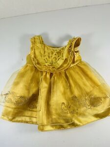Build-A-Bear Gold BELLE GOWN DRESS Clothes DISNEY BEAUTY & THE BEAST Costume