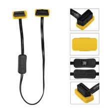 New Autool OBD2 16Pin Extension Cable Switch ON/OFF Connector Adaptor Yellow