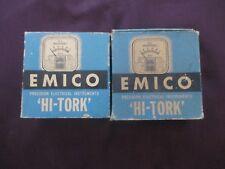 "2 NOS NIB Emico AC & DC Meters AC Milliamperes & DC Volts ""Hi Tork"""